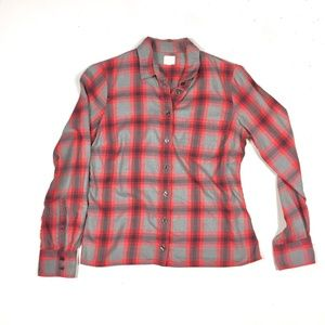 J. Crew flannel plaid soft button up top Small